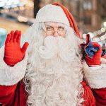 サンタの手袋の色は?