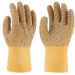お魚屋さんに、低温でも硬くなりにくいこの手袋!トワロングリップ!