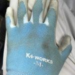 基礎工事で使うにはこの手袋!ゴム背抜き!
